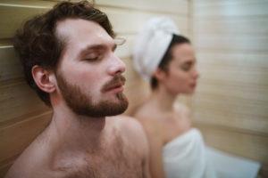 Relaxen in de sauna