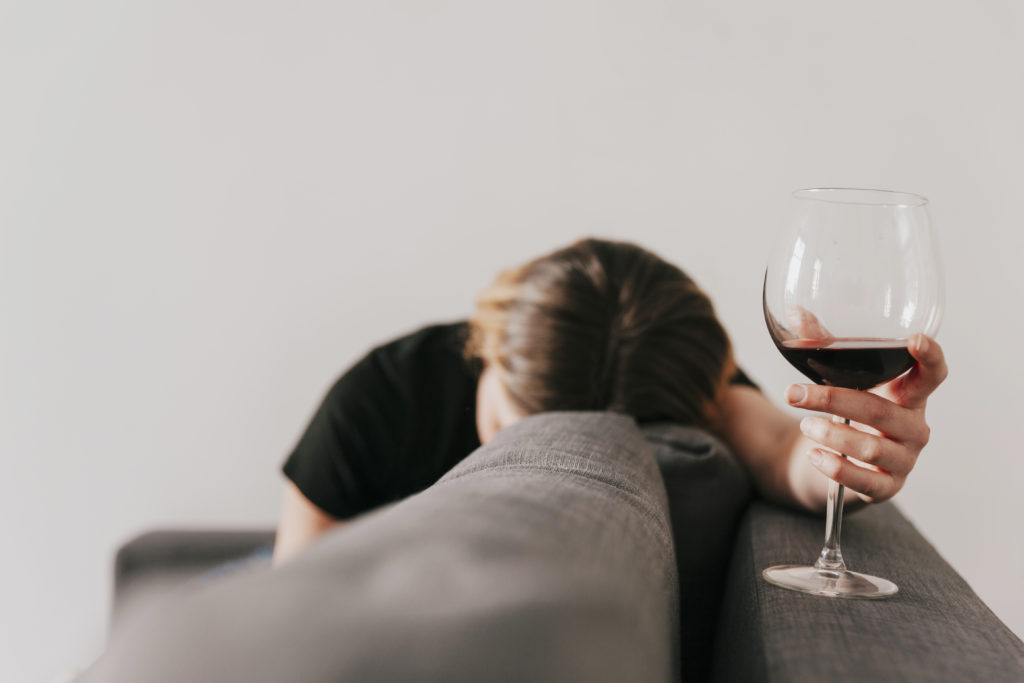 van teveel alcohol kan je vermoeid raken